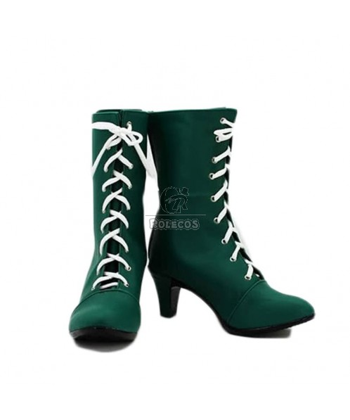 Sailor Moon Sailor Jupiter Kino Makoto Cosplay Zapatos Verde Botas a Medida