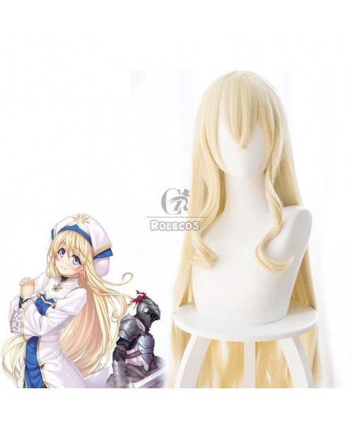 Anime Goblin Slayer Onna Shinkan Blonde 100cm Long Cosplay wigs