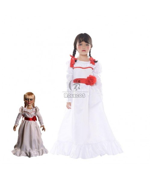 Movie Annabelle Cosplay Halloween Party Fancy Dress For Girls Kids