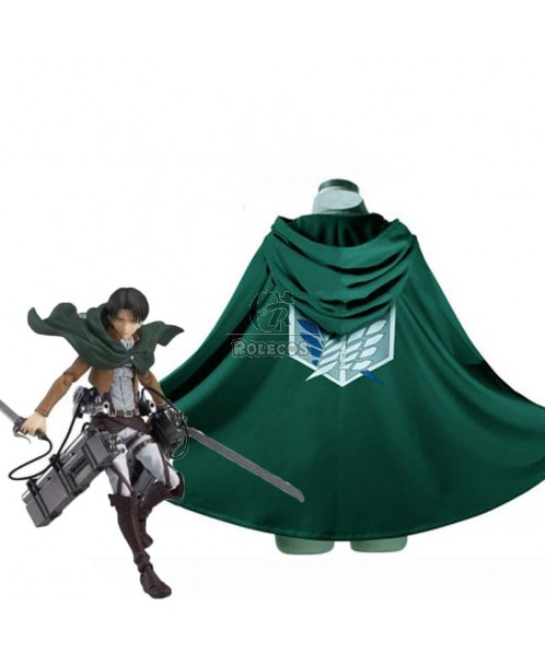 Attack On Titan Levi The Recon Corps Wings of Freedom Cloak Cosplay Costume