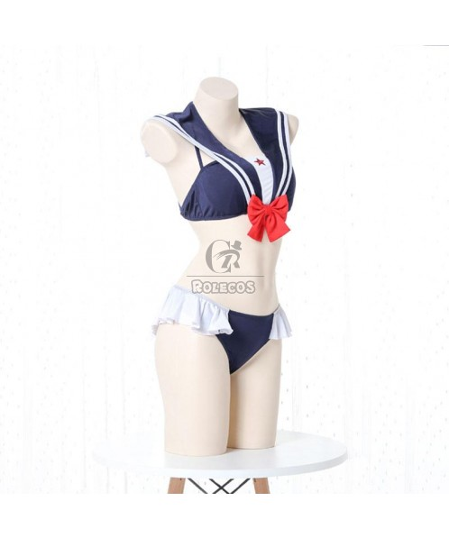 Cute Swimsuit Uniform Navy Style 4 Colors Cosplay Costume
