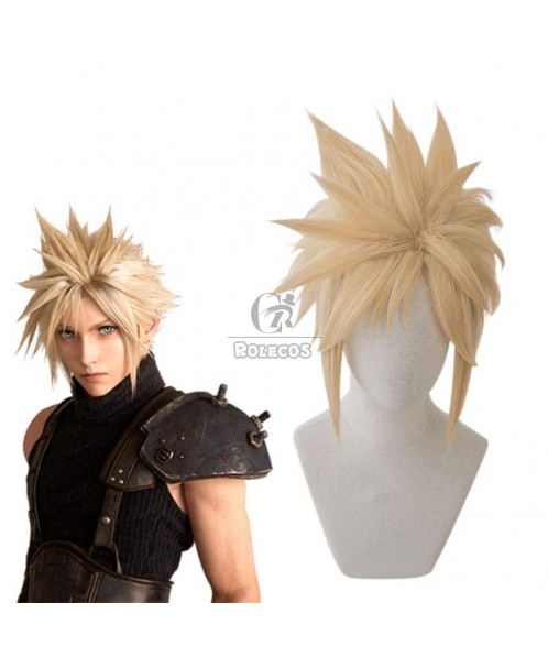 FINAL FANTASY Cloud Strife Blond Cosplay Wigs 2 Style