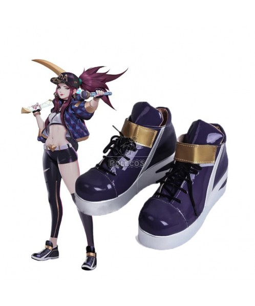 LOL KDA Skin Akali Cosplay Shoes