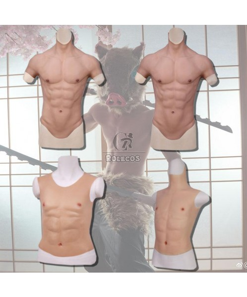 Silicone False Fake Muscle Chest Man Cosplay Prop
