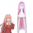 100 cm Long DARLING IN THE FRANXX ZERO TWO Anime Pink Straight Cosplay Wigs