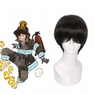 25cm Short Fashion Wig Black Straight Men Hair