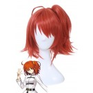 Fate/Grand Order Grand Master Olgamally Animusphere Short Straight Orange Red Synthetic Female Cosplay Wigs