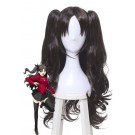Fate Grand Order Tohsaka Rin Black Brown Long Curly Game Cosplay Wigs