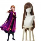 Film Anna Long Curly Brown Cosplay Wigs