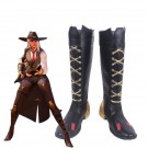 Game OW Ashe Cosplay Boots