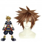 Kingdom Hearts Sora 3th Ver Short Brown  Cosplay Costume