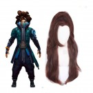 LOL True Damage Yasuo Brown Long Ponytail Cosplay Wigs