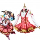Love Live Bouquet Awaken Minami Kotori Bright Red Dress Anime Cosplay Costumes