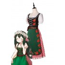 My Hero Academia Tsuyu Asui Anime Cosplay Costumes Beautiful Long Dress