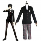 Persona 5 Joker Black Uniform Suit Game Cosplay Costumes
