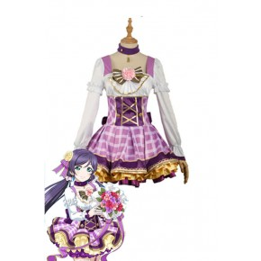 Love Live Bouquet Awaken Tojo Nozomi Purple Dress Anime Cosplay Costumes