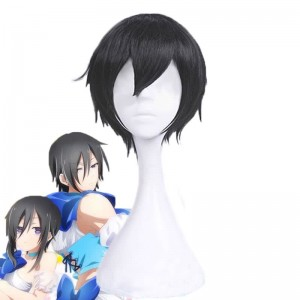 Magical Girl Ore Sakuyo Mikage Black Short Synthetic Wigs