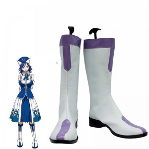 Fairy Tail Anime Juvia Loxar Cosplay calza botas