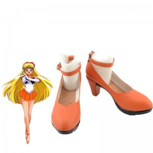 Zapatos de Sailor Moon Minako Aino Cosplay para el traje