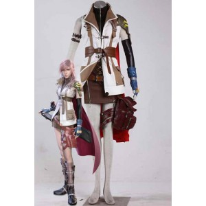 Final Fantasy 13 - Thunder capa roja Traje Cosplay