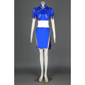 Traje cosplay azul Street Fighter Chun-Li