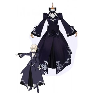 Fate Saber Alter Cosplay Costumes Female Evening Dresses