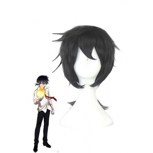 Short Black Anime Cosplay Man Wigs
