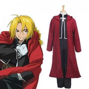 Anime Fullmetal Alchemist Edward Elric Cosplay Costume Generation One Full Set