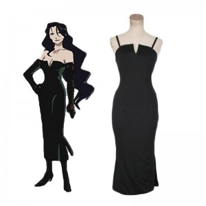 Anime Fullmetal Alchemist Lust Black Dress Cosplay Costume