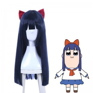 Anime POP TEAM EPIC Pipimi Cosplay Wigs Blue Straight Long
