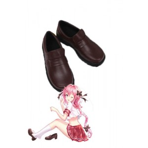 Fate/Apocrypha Astolfo Brown Uniform Cosplay Shoes