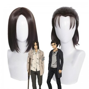 Attack On Titan Eren Jaeger Brown 2 Style Cosplay Wigs