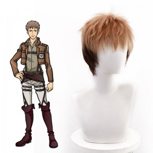 Attack on Titan Jean Kirstein Short Brown Gradient Cosplay Wigs