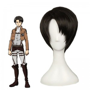 Attack on Titan Levi Short Black Cosplay Wigs