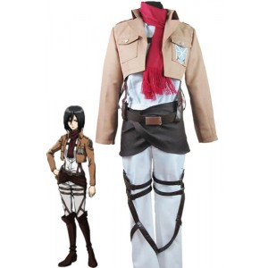 Attack On Titan Shingeki no Kyojin Mikasa Ackerman Trainee Class Uniform Cosplay Costumes