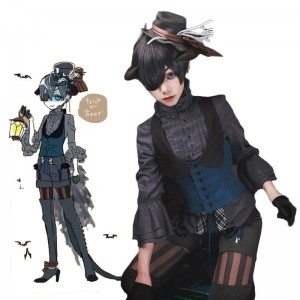 Black Butler Ciel Phantomhiv Halloween Cosplay Costume