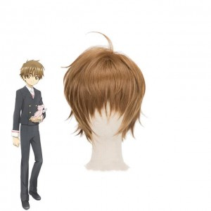 Cardcaptor Sakur Clear Card Shaoran Li Brown Short Cosplay Wigs