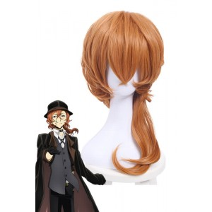 Bungou Stray Dogs Chuya Nakahara Short Orange Medium Wavy Cosplay Wigs