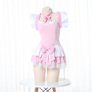 Cute Maid Pink Lingerie Cosplay Costume