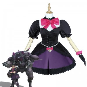 D.Va Hana Song pioneer black Dress Video Game Cosplay Costumes