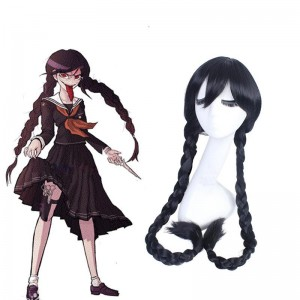 DanganRonpa Toko Hukawa Black Long Cosplay Wigs