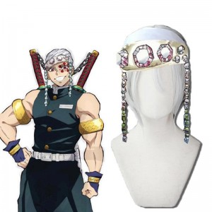 Demon Slayer Uzui Tengen 2 Style White Cosplay Wigs