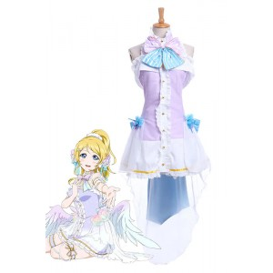 Love Live Eli Ayase White Valentine's Day Uniform Cosplay Costumes