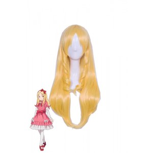 Eromanga Sensei Yamada Elf Long Golden Cosplay Wigs Female Hair