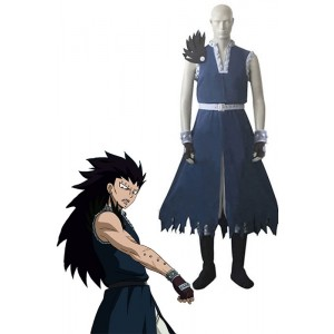 Fairy Tail Dragon Slayer Gajeel Redfox traje de cosplay