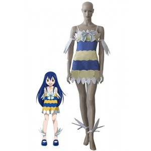 Traje de Cosplay del vestido de Fairy Tail Dragón Slayers Wendy Marvell chica