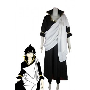 Fairy Tail traje de cosplay Zeref Con Cool White