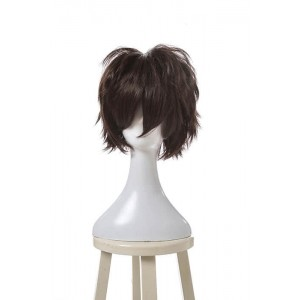 Fashion Black Short Synthetic Cosplay Man Wigs