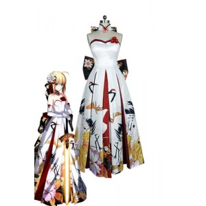 Fate/Stay Night Saber Artoria Pendragon Dress Cosplay Costumes