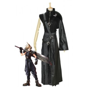 Final Fantasy 7 - Claude traje negro de Cosplay